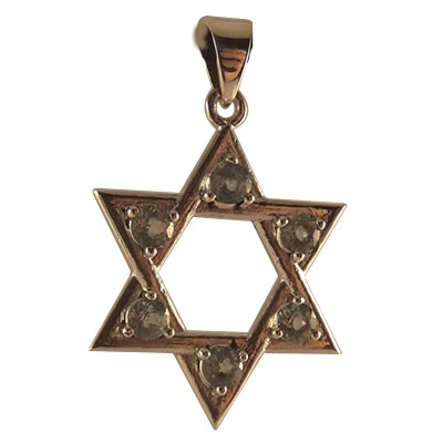Star of David w/ Sky Topaz - 4552