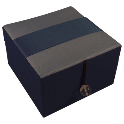 Jewellery Box - Blue Silk - Ribbon - Small - 4825