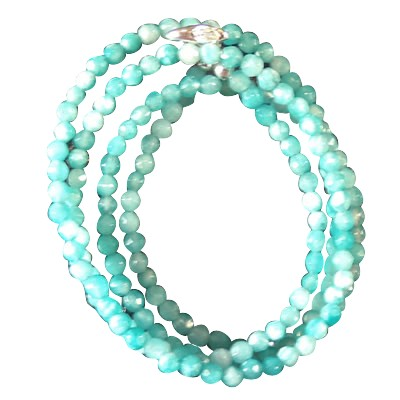 Necklace - Agate Light Blue (Amazonite) - 5024