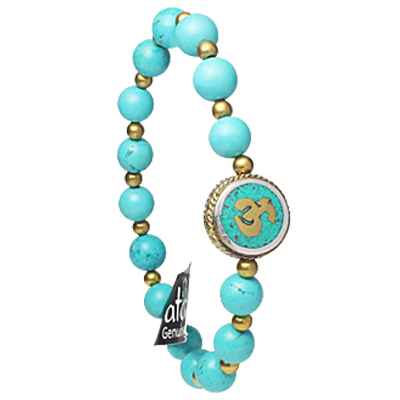 Nepalese OM - Turquoise Howlite - 5048