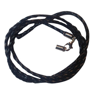 Cord - Brown Leather - Braided - 12Pk - 5090