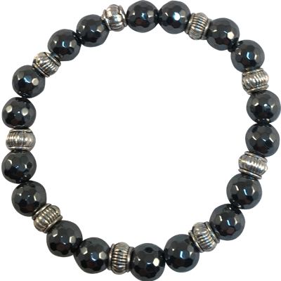 Faceted Hematite 9 sets - 5931