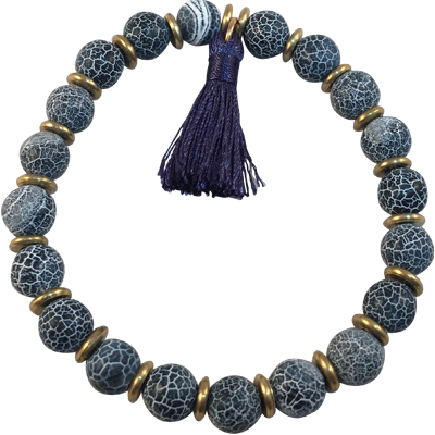 Tassel - Crackled Agate - 5949